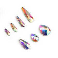 20pcs Raindrop Crystal AB Nail Art Rhinestones FlatBack Glitter Nails Decoration