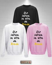 Sweat-shirt CHE FATIGUE LA VIE COMME UN BLONDE Idea Petite Amie Ami