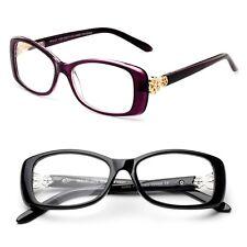 Fashion Designer Rectangular Reading Glasses with Stylish Temple Accents