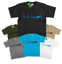 SCUBA DIVING T Shirt Diver PADI Heart Beat Heartbeat Love