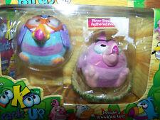 Koo Koo Zoo KooKoo Flocked Birds 2 Pack Doofusina Rainbow-Billed Long Tailed New
