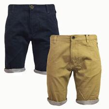Mens Brave Soul Hansen Tick Tailored Cotton Chino Shorts