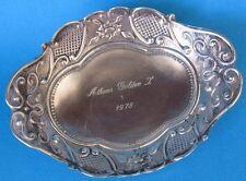 CORBEILLE COUPELLE ART NOUVEAU AUX FLEURS en ARGENT MASSIF 96,5 Gr ATHENS GOLDEN