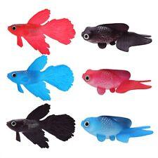 Vivid Artificial Silicone Floating  Small Fish Aqua Fish Tank Ornament Decor