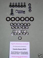 Toyota Supra MkIV - Radiator/Battery/Headlight Attachment Set - CHROMED