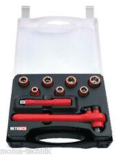 """VDE METRINCH 1/2"""" Inch Ratchet Wrench Socket Set 9 Pieces MET-0109E"""