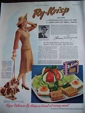 1941 Ry-Krisp Crackers Lord & Taylor Cocker Spaniel Ad