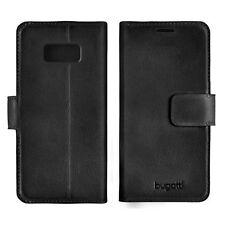Bugatti Full Grain Leder Booklet Case für Samsung Galaxy S8 oder S8+ - schwarz