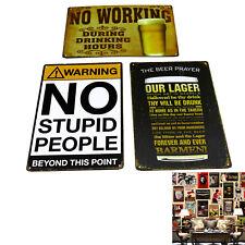 Retro Metal Tin Sign Poster Plaque Plate Bar Pub Club Cafe Home Room Wall Decor