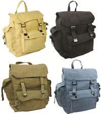 Shoulder Backpack Military Vintage Bag Army Rucksack Retro Satchel canvas