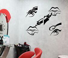 Wall Stickers Beauty Salon Cosmetics Makeup Woman Mural Vinyl Decal (ig1955)