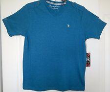 Lions Crest by English Laundry Designer Aquamarine V Neck  T Shirt Size S; M NWT