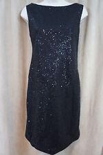 Muse Dress Sz 6 Black Embellished All Over Sleeveless Evening Cocktail Dress