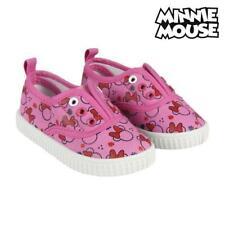 Nouveau CANVAS Sneaker Chaussures Basses Chaussures Fille Minnie Souris Rouge Pantoufles 25-30