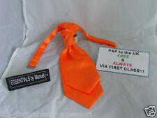 NEON Orange BOYS Scrunchie Ruche Polyester CRAVAT-More Ties U Buy >> More U Save
