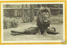 Real Photo Postcard Rppc - Woman & Lion El Monte Ca