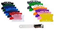 ID Card Pass Badge Holder & Bavero Coccodrillo Clip, Scelta di Colori-Gratis P&P!!