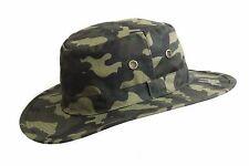 Uomo Nuovo Di Zecca Camouflage Cera Bush All'Aperto Impermeabile Aussie Esercito Cappello Colombia
