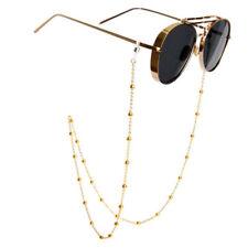 ba8b2be961e1 Shiny Gold Silver Eyeglass Cord Reading Glasses Eyewear Spectacles Chain  Holder