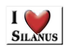 CALAMITA SARDEGNA ITALIA FRIDGE MAGNET MAGNETE SOUVENIR I LOVE SILANUS (NU)