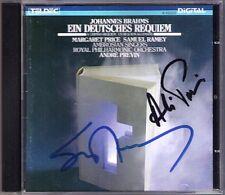 PREVIN, RAMEY Signed BRAHMS Ein deutsches Requiem CD Andre Samuel Margaret Price