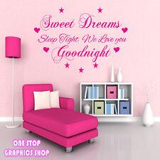 CARAMELO Dreams Adhesivo de pared con texto - Dormitorio bebé niños infantil