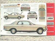 1979 MERCEDES-BENZ 280CE / 280 CE IMP Brochure