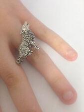 C18 WOLF peltro inglese, anello donna regolabile handmade in Sheffield