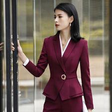 Formal Pant Suit Office Lady Uniform Designs for Women Business Suits Work Wear