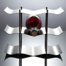 Stainless Steel 3-layers Red Wine Bottle Rack Holder Bracket Home Bar Tool Shelf