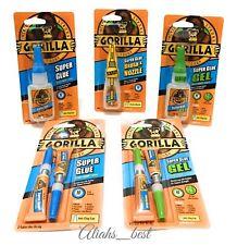 Gorilla Super Glue impact-Tough Gel Brush Nozzle Tube Strong Superglue Adhesive