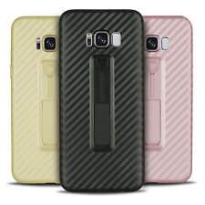 Carbon Hülle für Samsung Galaxy S8 Plus Schutzhülle Slim Cover Case Bumper Rosa