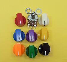 Ohm Volumen Mezclador Estéreo lineal B potenciómetros Con Botones De Plástico 19mm Cap