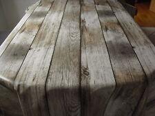 Tischdecke Wachstuch Rund 90-140 cm , Holzdielen, Grau/Brauntöne, Abwaschbar