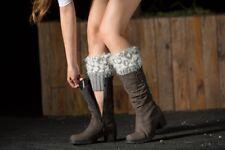 4 Colours Women Leg Warmers Faux Fur Leggings Winter Toppers Gift Knitted Socks