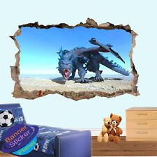 Blue Dragon On Sea Rock vista Bambini Camera Vivaio Arte Adesivo Parete Ufficio Murale XM7