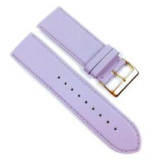 Herzog Plage Bracelet de rechange bande montre en cuir veau Lila 21701g