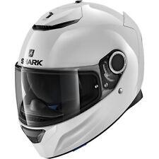 Shark Spartan Blank Motorcycle Motorbike Helmet - White
