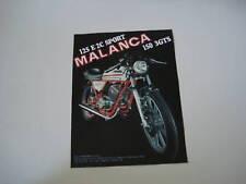 advertising Pubblicità 1978 MOTO MALANCA 125 E 2C SPORT
