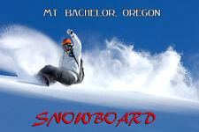 Snowboard Mt. Bachelor Oregon America Winter Sport Vintage Poster Repro FREE S/H