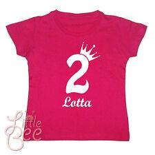 Girl Geburtstagsshirt * 2, 3, 4, 5 - 9 Krone + Wunschname * n.Wahl / Farbwahl