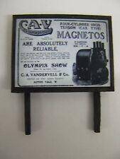 C.A. Vandervell, Magnetos - Model Railway Billboard - N & OO Gauge