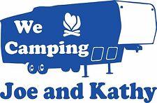 Camping 5th Wheel Camper Travel Trailer Custom Name Large Vinyl Decal Sticker