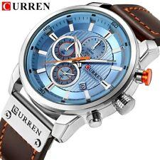 Top marque luxe CURREN 2018 mode bracelet en cuir Quartz hommes montres