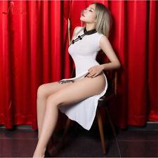Women Chinese Cheongsam Dress Qi Pao Cosplay Sexy Lingerie Costumes Nightwear