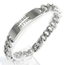 "Stainless Steel 11mm Men's 9"" Engravable Cuban Link ID Bracelet"