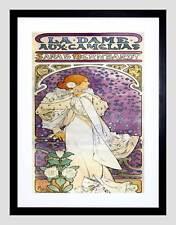 Anuncio Nouveau promoción actriz mucha Sarah Bernhardt impresión arte enmarcado B12X3912