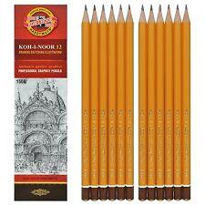 Paquete De 12 Koh-i-noor 1500 lápices de grafito Profesional 20 grados 8B a 10H Nuevo