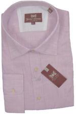 NEW $145 Hickey Freeman Button Front Shirt!  Tan or Lavender   Lightweight Linen