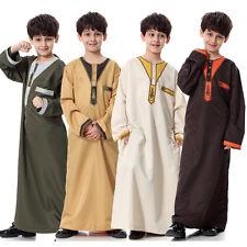 Boys Kids Saudi Thobe, Jubba, Arab Robe, Dishdasha Islamic Clothing